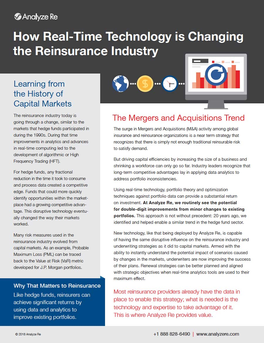 How Real-Time Technology is Changing the Reinsurance Industry