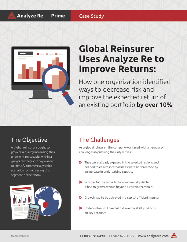 Global Reinsurer Uses Analyze Re to Improve Returns